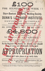 Advert For Dunn's Literary Institute